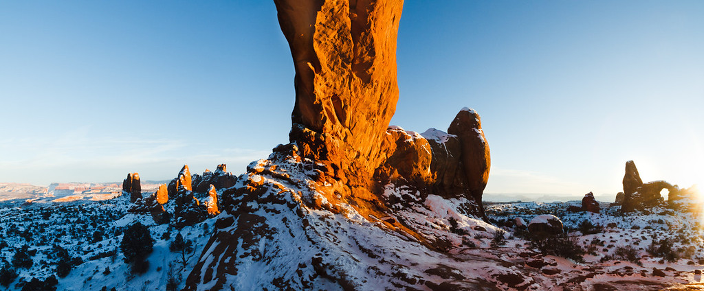 turret Arch and the North Window panorama