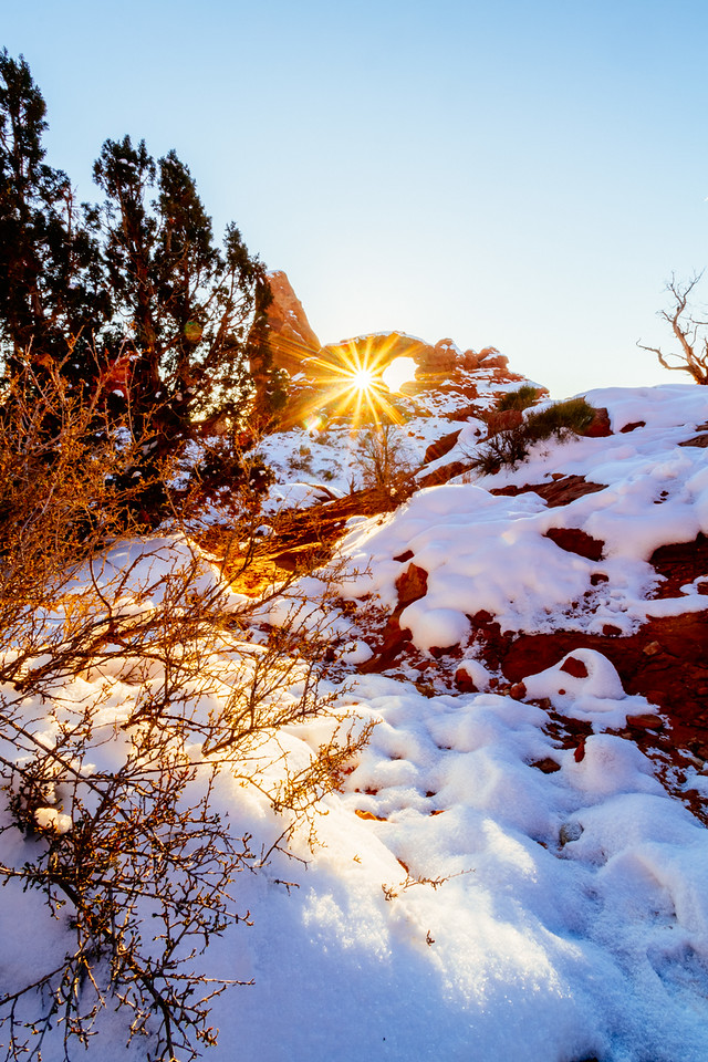 Turret Arch sunburst
