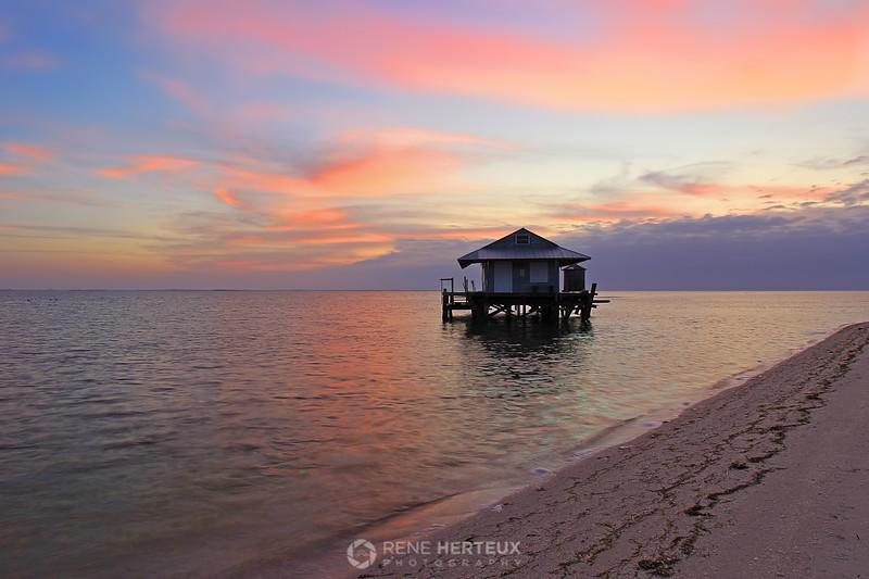 North Captiva fishhouse sunrise