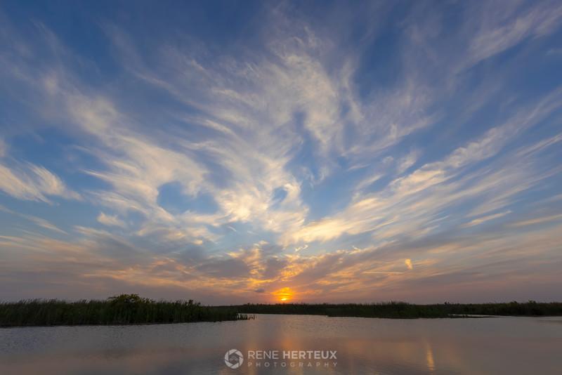 Sunset over Loxahatchee
