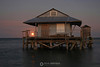 Fish house with full moon