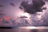 Fading sunset, lightning, and sailboat, Marathon FL