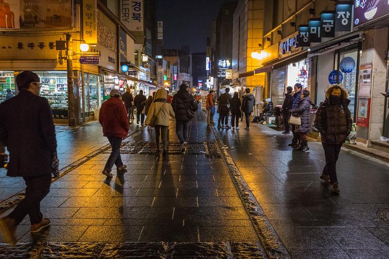 Nighttime in Seoul