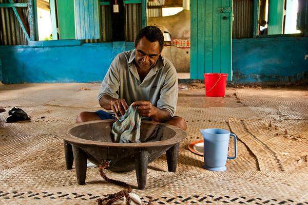 Preparing Kava