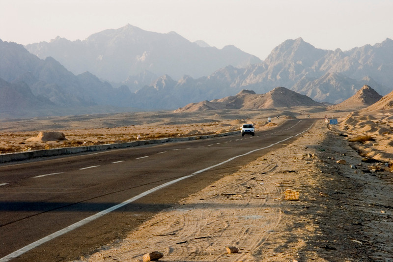 South Sinai - road between Ras Mohammed and Sharm-el-Sheikh