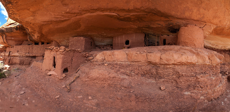 5 images stitched together of Moonhouse ruin.