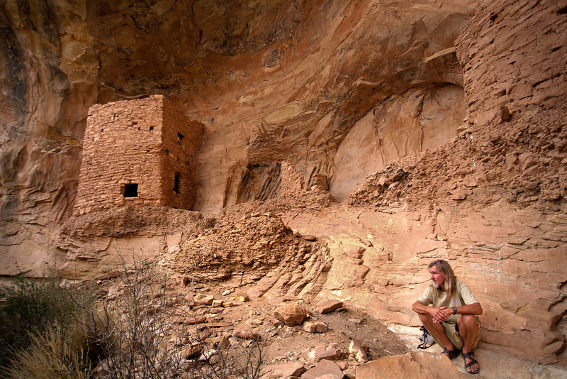 Two story ruins with my guide Vaughn Hadenfeldt (Far Out Expeditions)