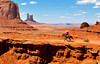 Indian on horseback at Monument Valley Southwest