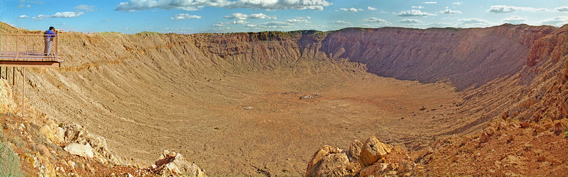 Meteor Crater Southwest; landscape;