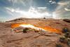 Entire Mesa Arch. Southwest; landscape;