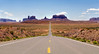 Straight Rd into Monument Valley Southwest; landscape;