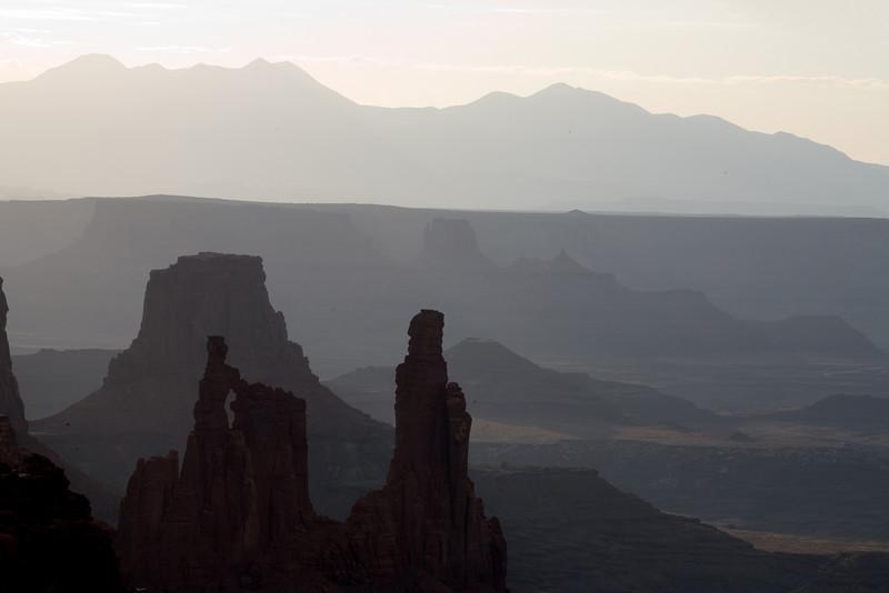 Looking through Mesa arch Southwest; landscape;