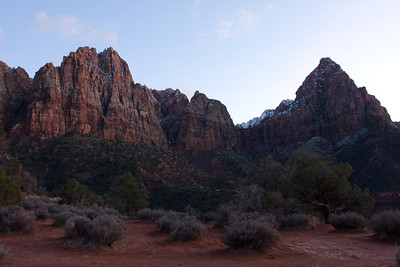 Zion National Park winter landscapes