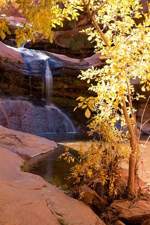 Shying waterfall