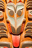 Totem detail, Alaska State Museum, Juneau