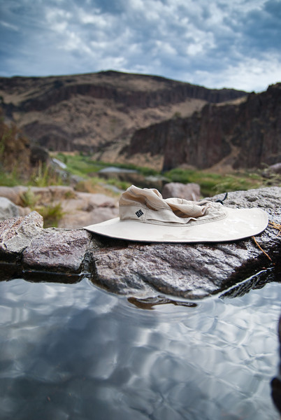 The view from the soaking pool at Three Forks on the Owyhee River.