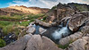 The hot springs waterfall at Three Forks on the Owyhee River.