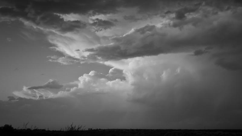 An evening thunderstorm over the Malheur National Wildlife Refuge.