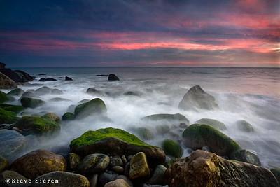 Rising Tide - near Malibu  Santa Monica Mountains National Recreation Area Southern California near Los Angeles