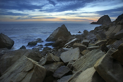 Point Mugu Rock Sunset Southern California near Los Angeles