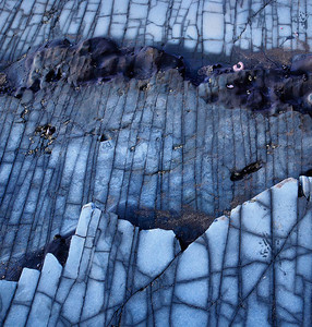 Marble Sea Floor - Abstract Detail Southern California near Los Angeles