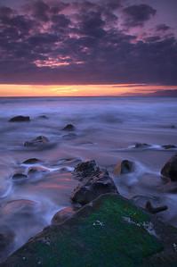 Faria Beach Colorful Sunset