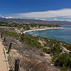 Point Dume bluff in late summer