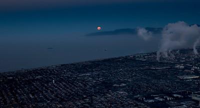 South Bay Moonrise Aerial #1