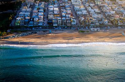 Aerial view of El Porto, Manhattan Beach CA