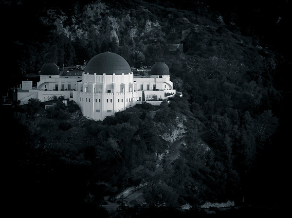 Griffith Observatory - Black and White Aerial #1