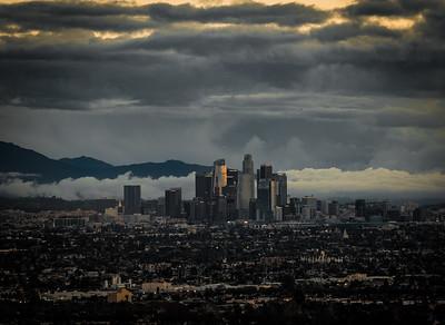 Downtown Los Angeles, California, Christmas Eve 2016