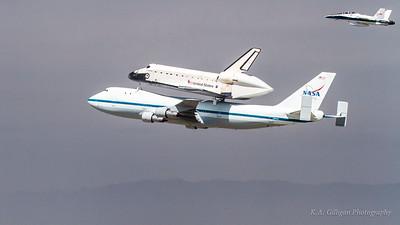 Space shuttle Endeavor lands at LAX
