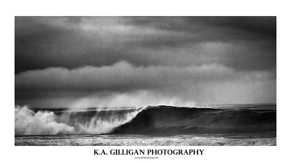 Black and white wave, El Porto. Manhattan Beach, CA.
