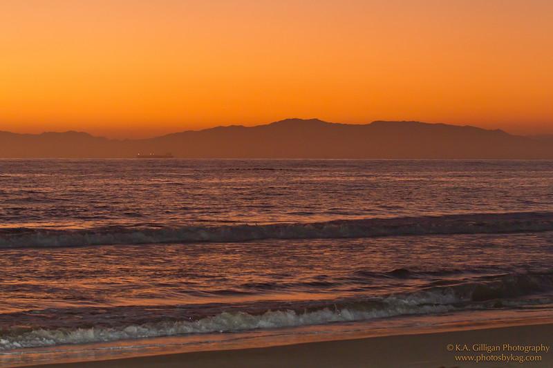 Golden Sunset, Torrance Beach. Torrance CA.
