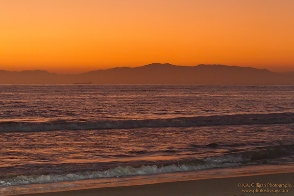 Golden Sunset, Torrance Beach. Torrance CA.