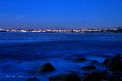 View of the South Bay as seen from the beach in Palos Verdes. One of my favorite night images of the South Bay.