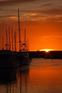 Sunset, Redondo Beach Harbor, Redondo Beach, CA