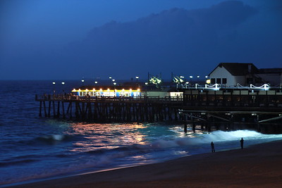 """""""Redondo Pier, Night""""  This shot of the Redondo Beach Pier was taken just after a storm. Note the clouds in the background."""
