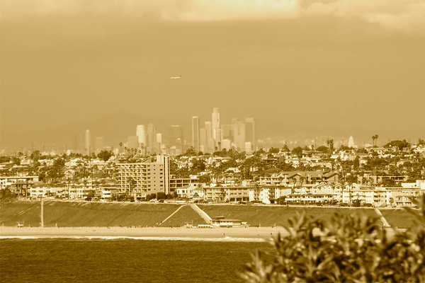 Downtown Los Angeles, seen from the South Bay