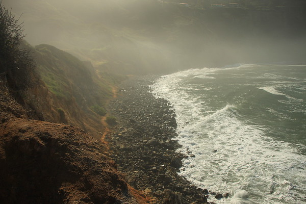 """Misty Cove"" Palos Verdes, CA.  This shot was published in ""Beach Magazine"" in August, 2010 and won an ""Honorable Mention"" in the 2010 Easy Reader Photo Contest against some pretty stiff competition."