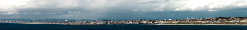 Photo of the week 3/25/11. South Bay panoramic view during the recent storm - El Segundo to Torrance Beach.
