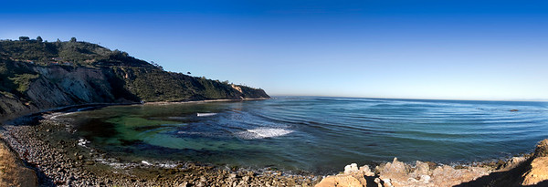 "Known to locals as ""The Cove"" this great surfing spot is rarely calm enough to see the green hues."