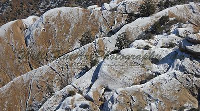 Devil's Punchbowl rock & snow textures
