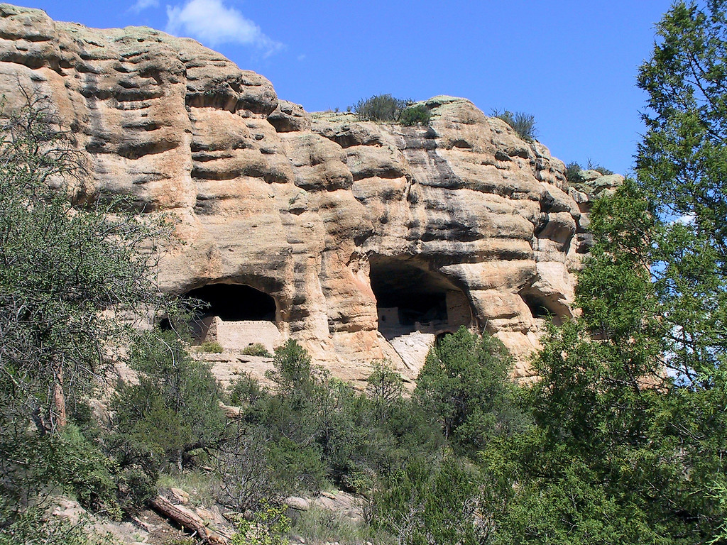 Ruins at Gila Cliff Dwellings National Monument.
