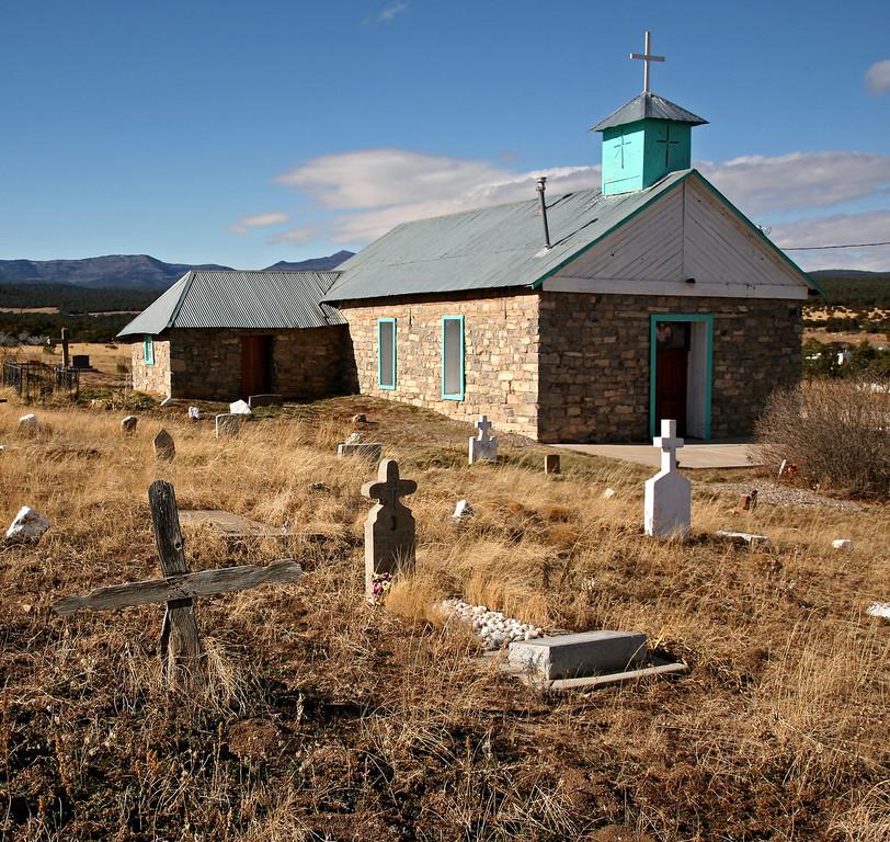 Church at Tajique - December morning
