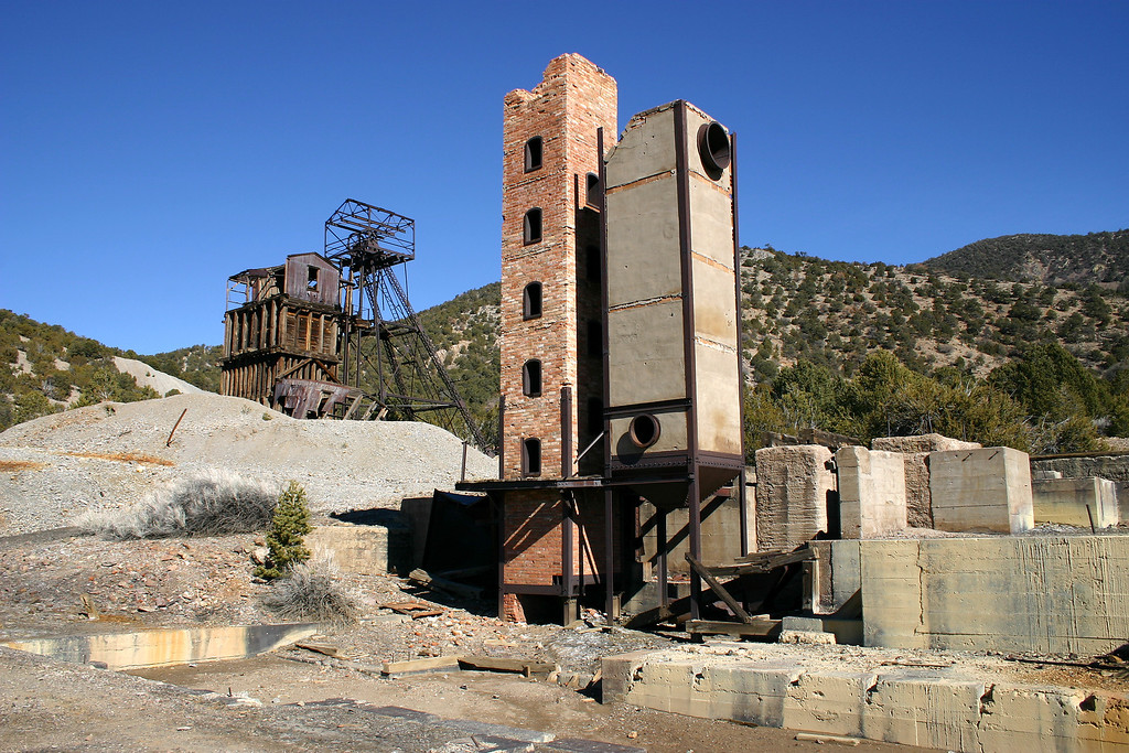Abandoned mine near the ghost town of Kelly, New Mexico.