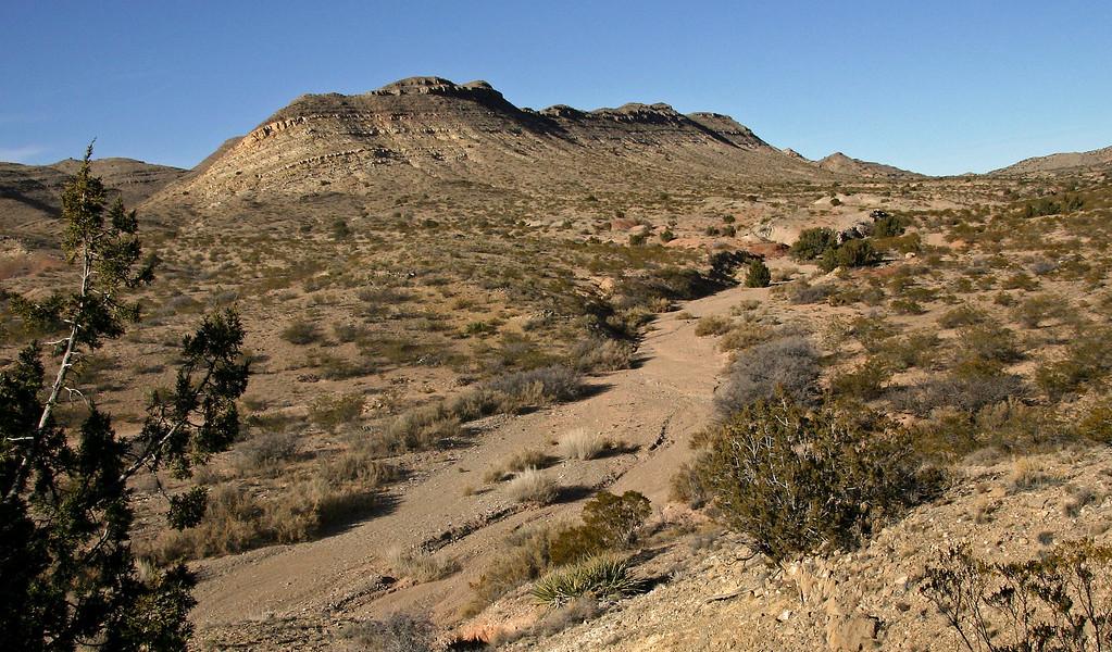 Along the Quebrdas scenic byway near Socorro