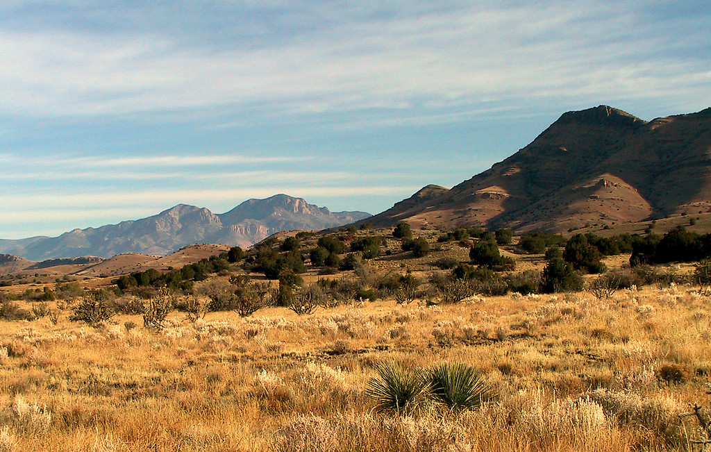 Looking north to the San Mateo mountains on the road to Beaverhead.