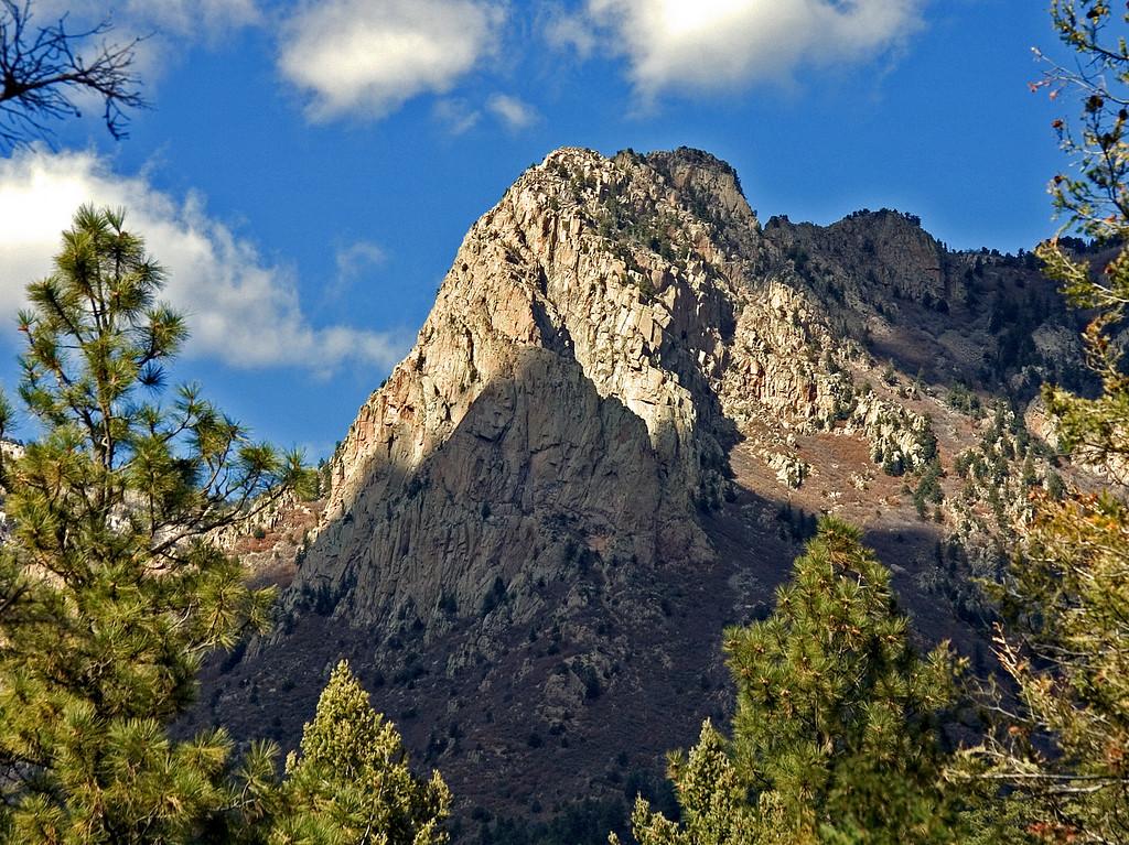 View of Granite peak in the Sandia mountains.