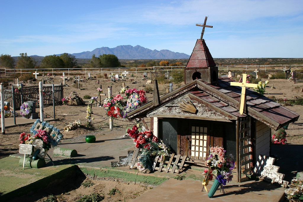 Cemetery near Soccorro, New Mexico.